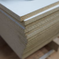 MELAMINE WHITE PARTICLE BOARD